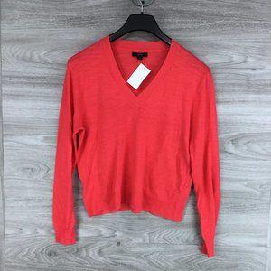 J. Crew Slub Knit V-Neck Sweater